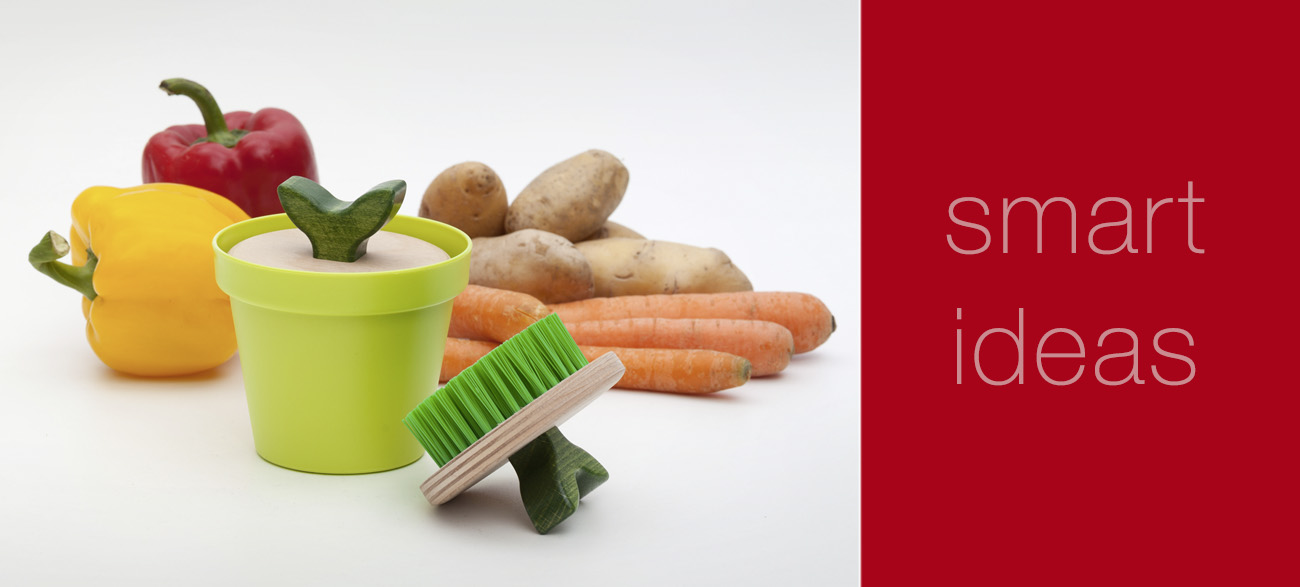 designed vegetable brushes