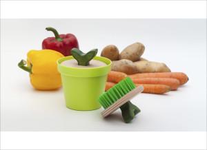 vegetable brush brush.up in green