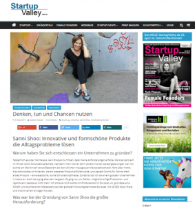 Interview für das StartupValley Magazin - Susanne Richter / Sanni Shoo