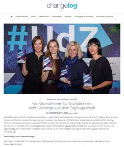 Susanne Richter Award-Gewinnerin #udz19 / Changelog