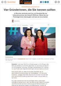 Susanne Richter Award-Gewinnerin Amazon Unternehmerinnen der Zukunft 2019 / Handelsblatt